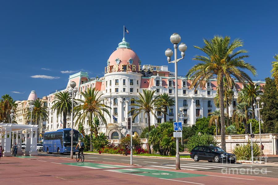 Nice Photograph - Hotel Negresco On English Promenade In Nice by Elena Elisseeva