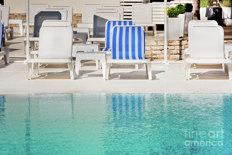 Chairs Photograph - Hotel Poolside Chairs Near A Swimming Pool by Dvoevnore Photo & Hotel Poolside Chairs Near A Swimming Pool Photograph by Dvoevnore Photo