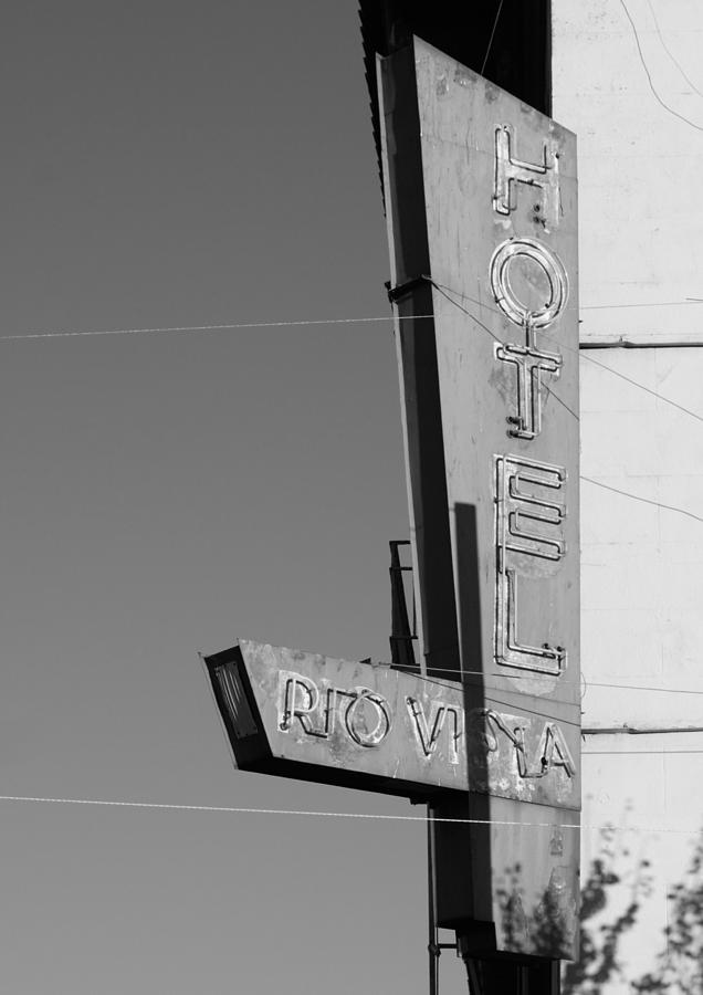 Black And White Photograph - Hotel Rio Vista by Troy Montemayor