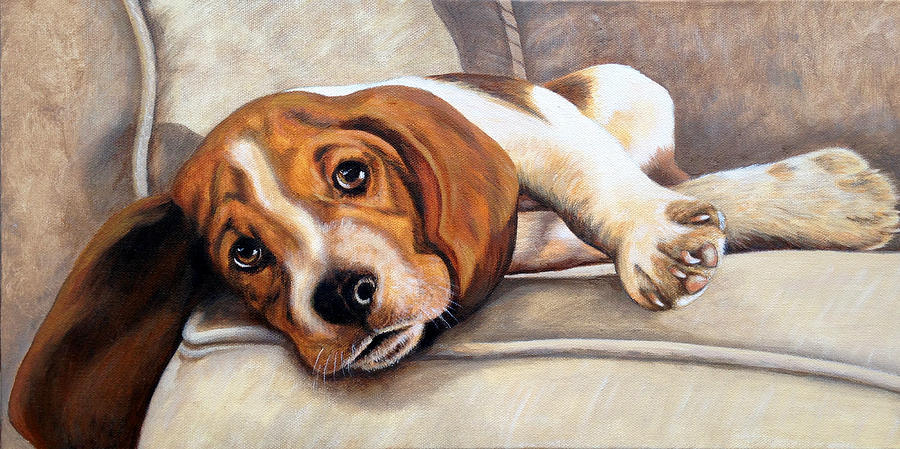 Hound Painting - Hound Dog by Glenda Stevens