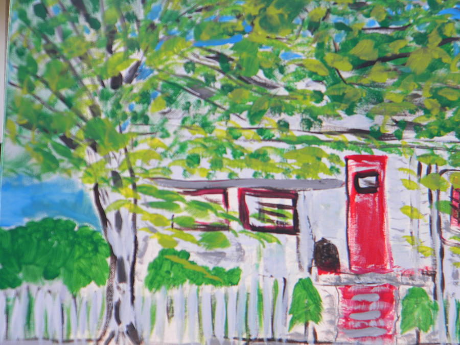 hOUSE AMONG THE TREES Painting by Maggie Cruser