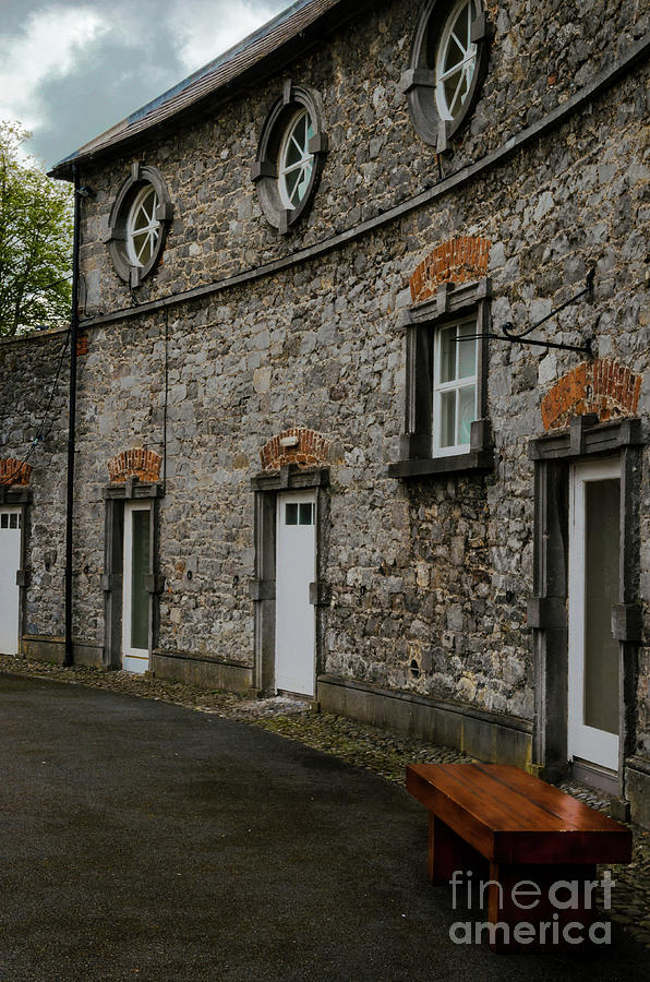 Bench Photograph - House And Street In Kilkenny by Diego Muzzini