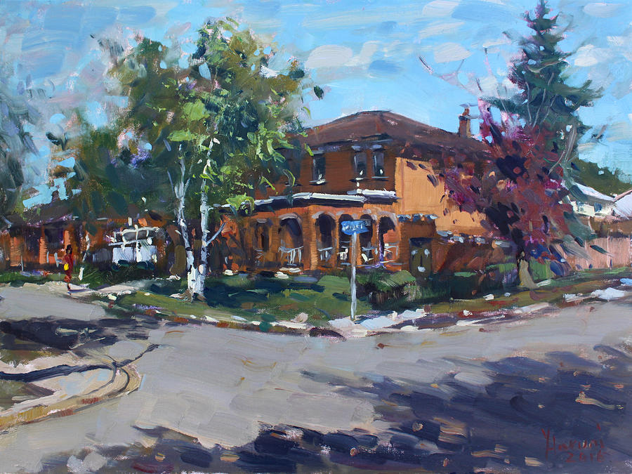 House Painting - House At Goldmar Dr Mississauga On by Ylli Haruni