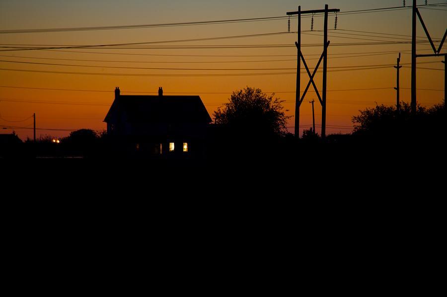Sunset Photograph - House At Sunset by Paul Kloschinsky
