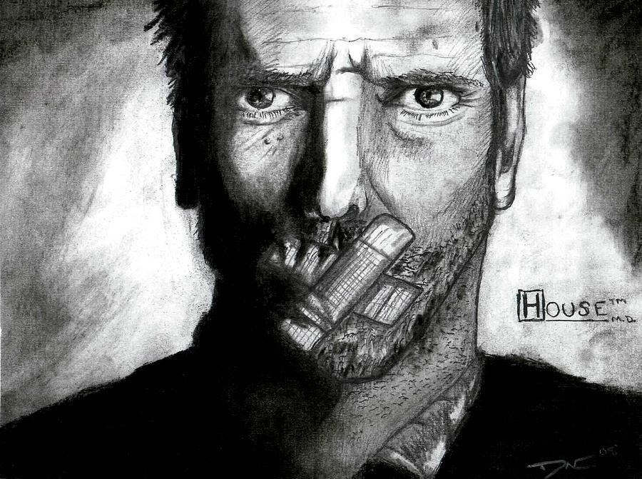 Dr. House Digital Art - House by Dave Oliver