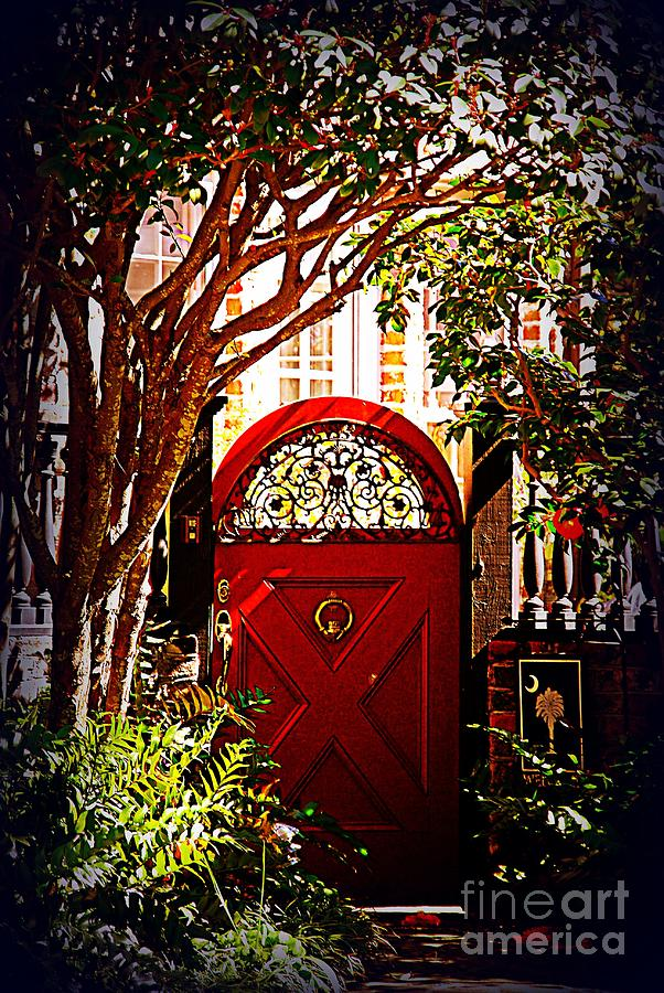 Charleston Photograph - House Door 5 In Charleston Sc by Susanne Van Hulst : sc doors - pezcame.com