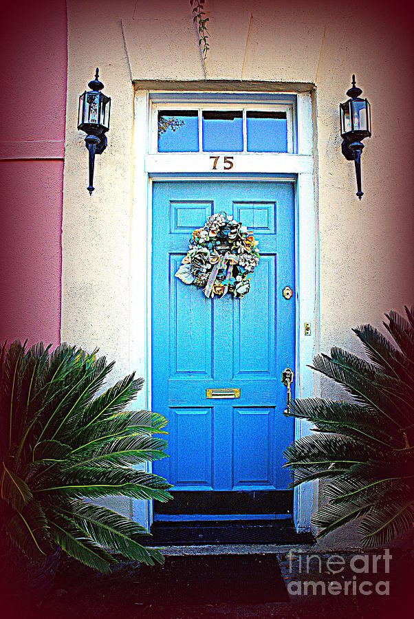 Charleston Photograph - House Door 6 In Charleston Sc  by Susanne Van Hulst