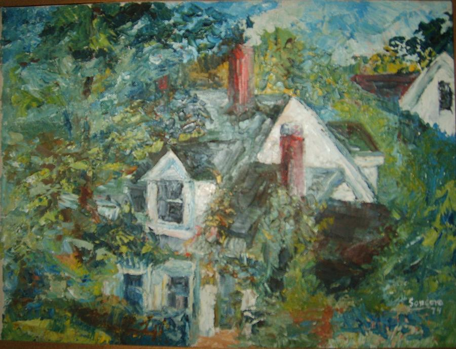 House In Gorham Painting by Joseph Sandora Jr