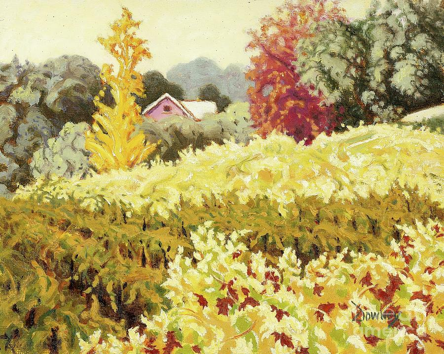 Oil Painting - House in Sonoma Hills by Carl Downey