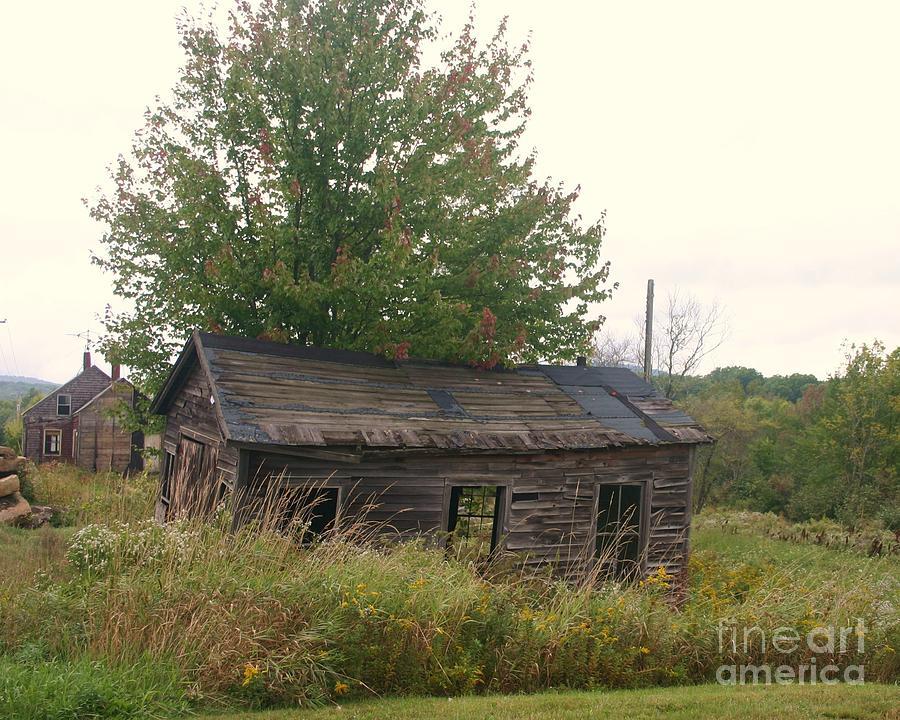 Landscape Photograph - House Left Alone. by Dennis Curry