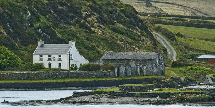 Ireland Photograph - House Near Valencia Island Ireland by Larry Pegram