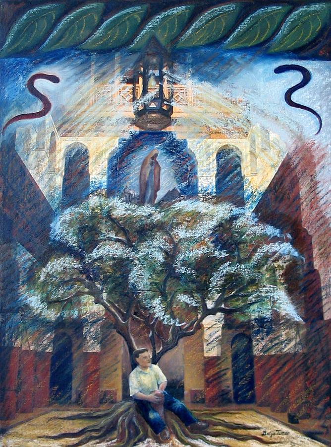 Tree Painting - House Of Abraham by Barbara Nesin