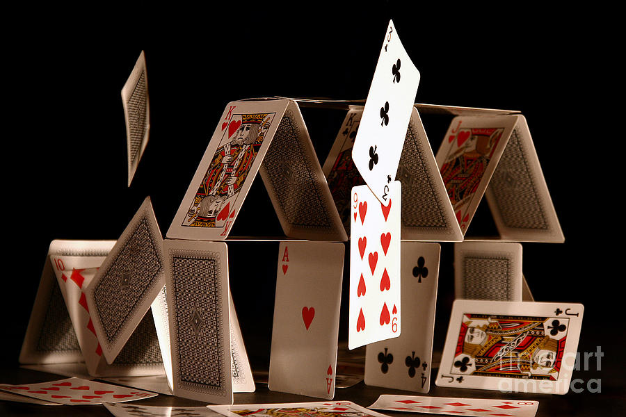 Cards Photograph - House Of Cards by Jan Piller