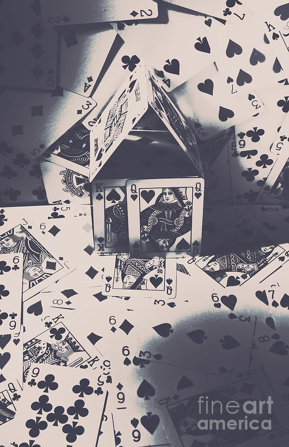 Cards Photograph - House Of Cards by Jorgo Photography - Wall Art Gallery