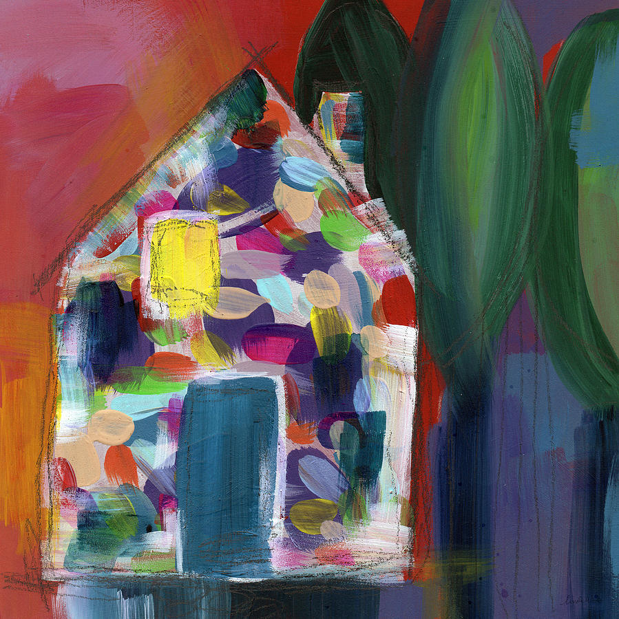 House Of Many Colors- Art By Linda Woods Painting