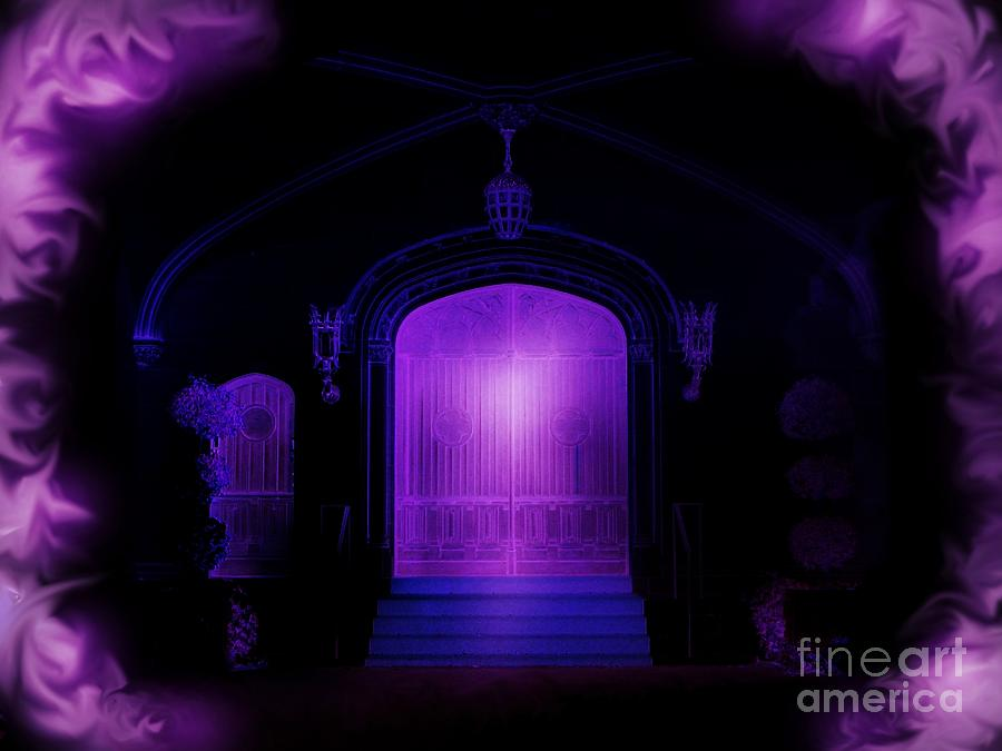 Purple Photograph - House Of Purple Light by Roxy Riou