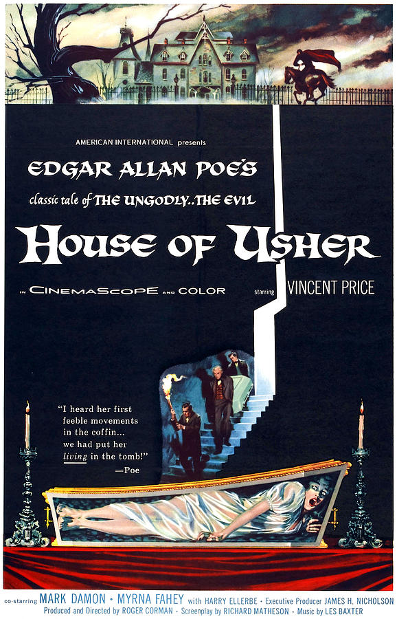 1960 Movies Photograph - House Of Usher, Aka The Fall Of The by Everett