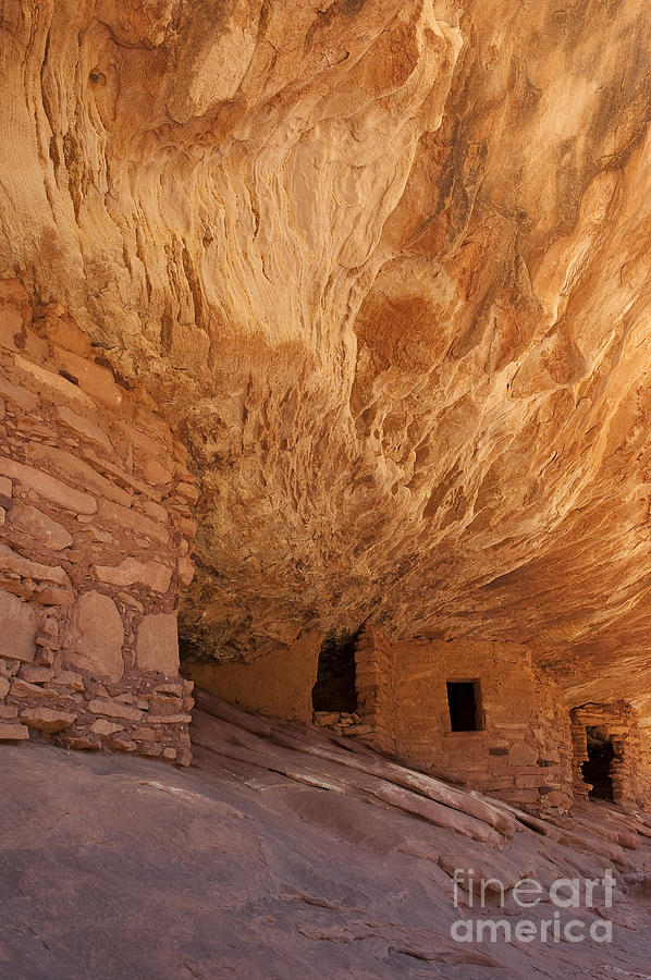 Southwest Photograph - House On Fire-indian Ruin by Sandra Bronstein