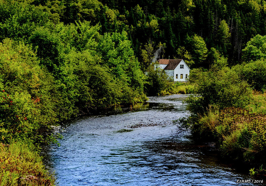 Cape Breton Photograph - House On Margaree River by Ken Morris