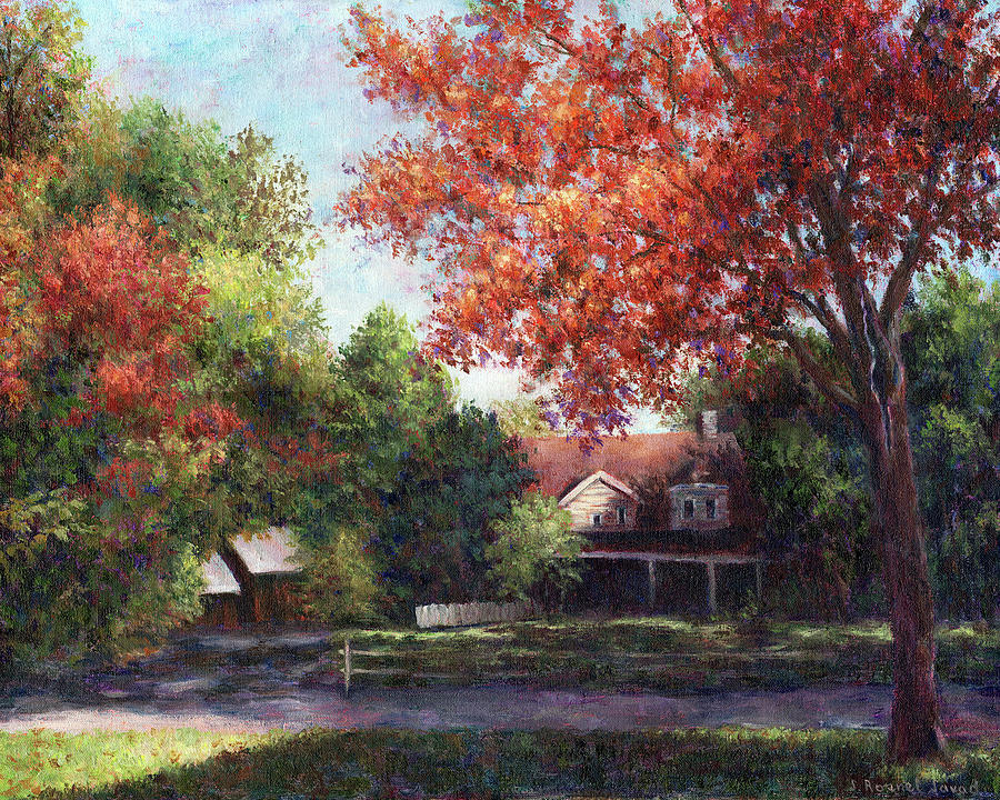 House Painting - House On The Hill by Susan Savad