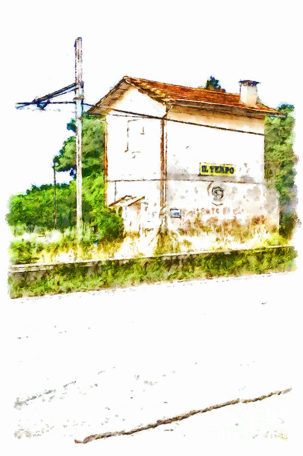 Railway Painting - House On The Railway by Giuseppe Cocco