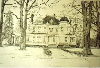 House Portrait Drawing by TBH Fine Art