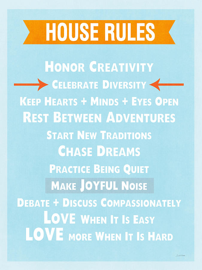 House Rules-contemporary Mixed Media