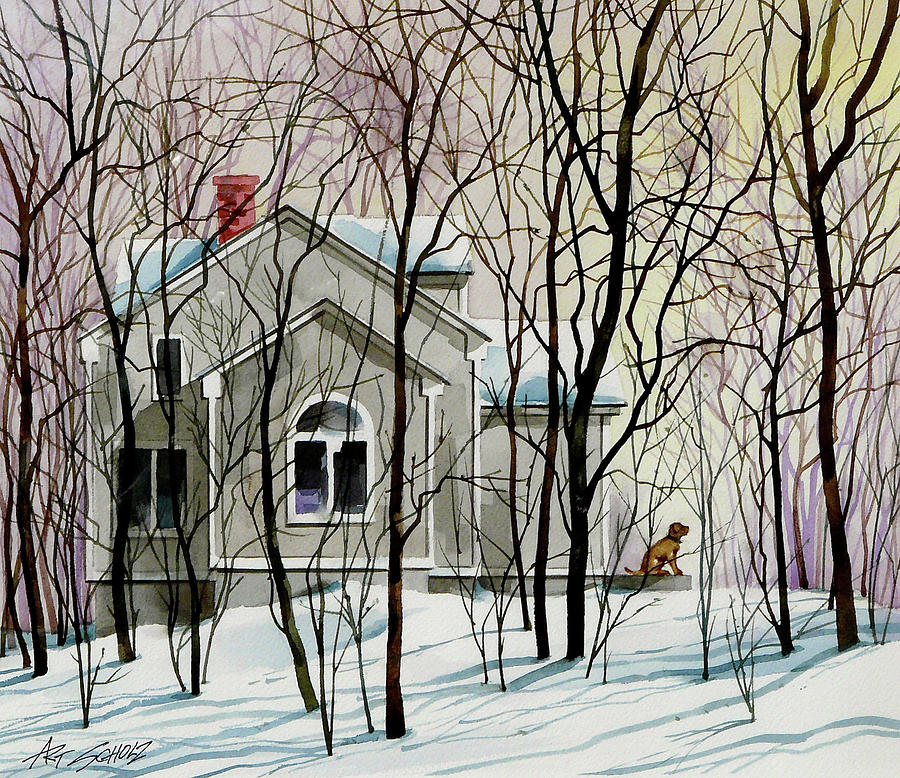 House Sitting Painting by Art Scholz