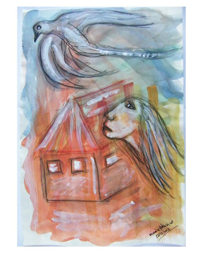 Imprisoned Painting - House Without A Door - Haus Ohne Tuer by Mimulux patricia no No