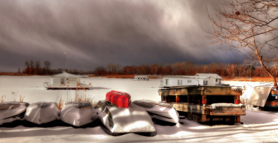 Houseboats Photograph - Houseboats In Winter by Brian Fisher
