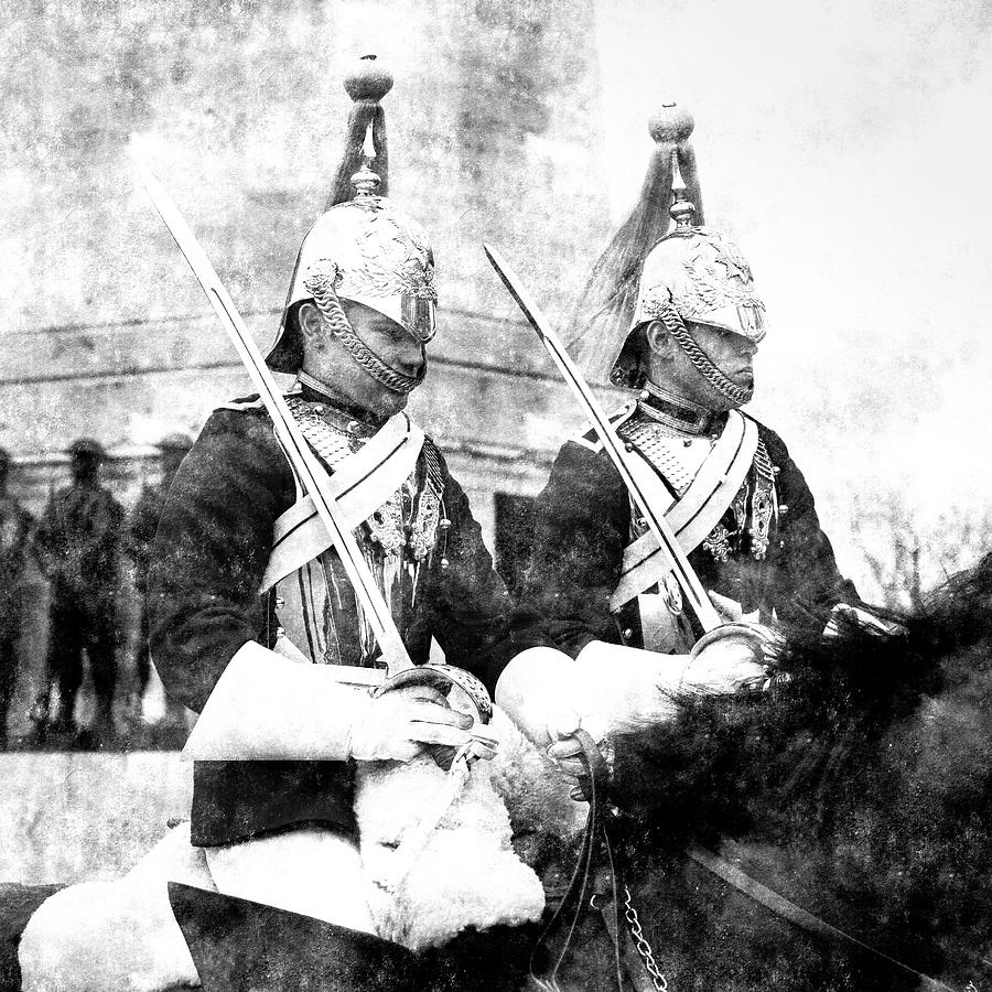 Household Cavalry Changing Of The Guard Vintage Photograph