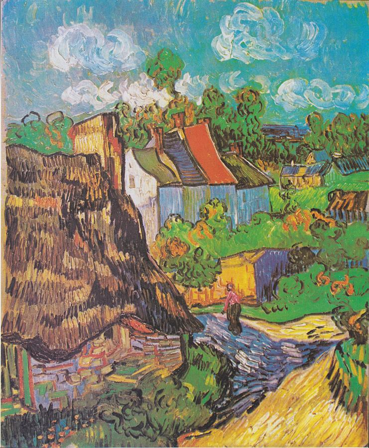 Houses At Auvers Digital Art by Vincent Van Gogh