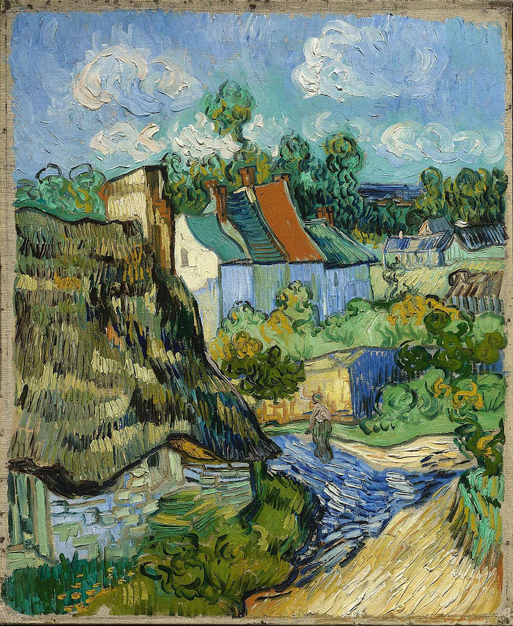 Vincent Van Gogh Painting - Houses In Auvers by Van Gogh