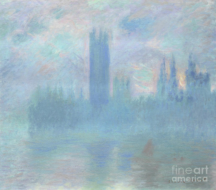 Houses Of Parliament Painting - Houses Of Parliament  London by Claude Monet