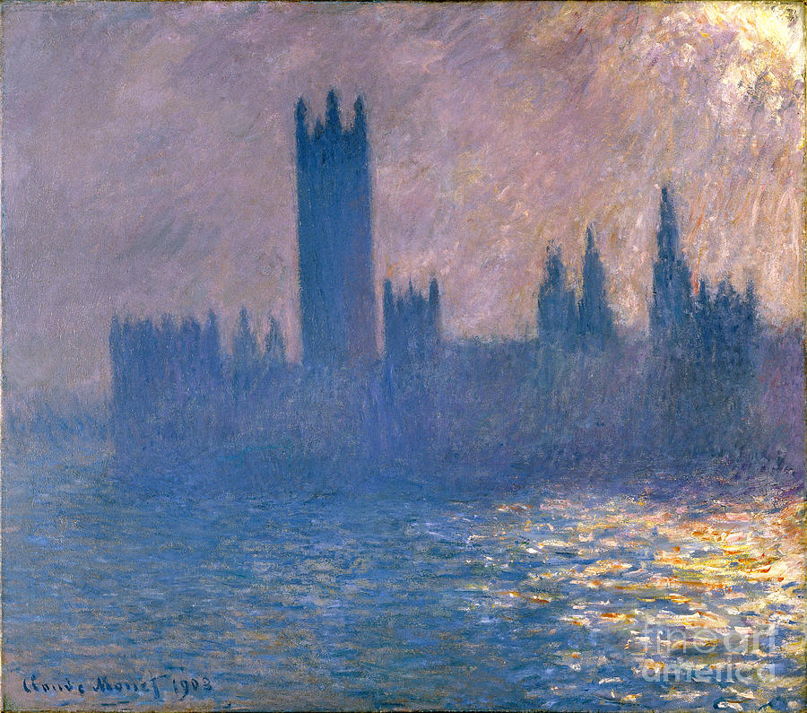 Claude Painting - Houses Of Parliament - Sunlight Effect by Claude Monet