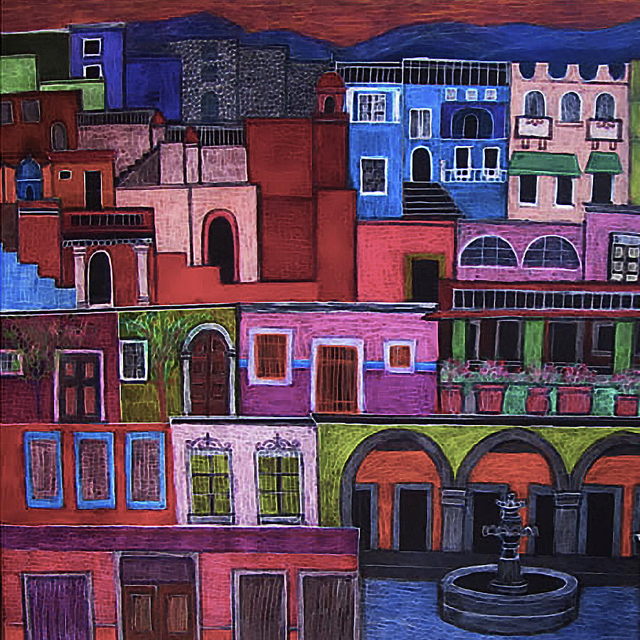 Houses Painting - Houses Of San Miguel 2 by Liz Blair