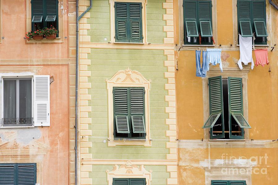 Italia Photograph - Houses, Portofino, Italy by Damian Davies