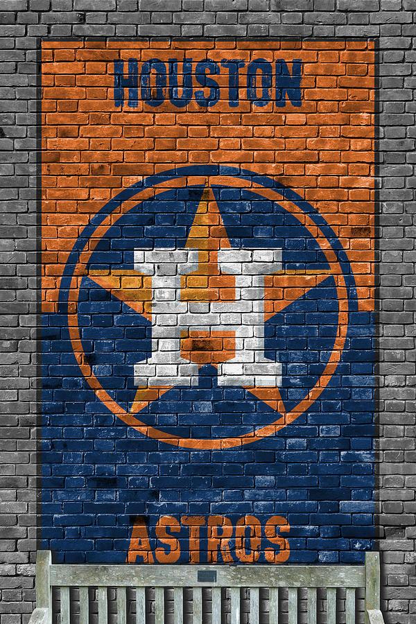 Astros Painting - Houston Astros Brick Wall by Joe Hamilton