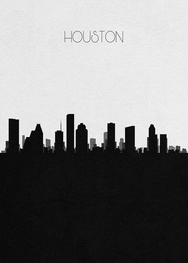 Houston Digital Art - Houston Cityscape Art by Inspirowl Design