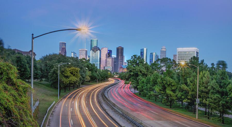 Houston Evening Cityscape Photograph
