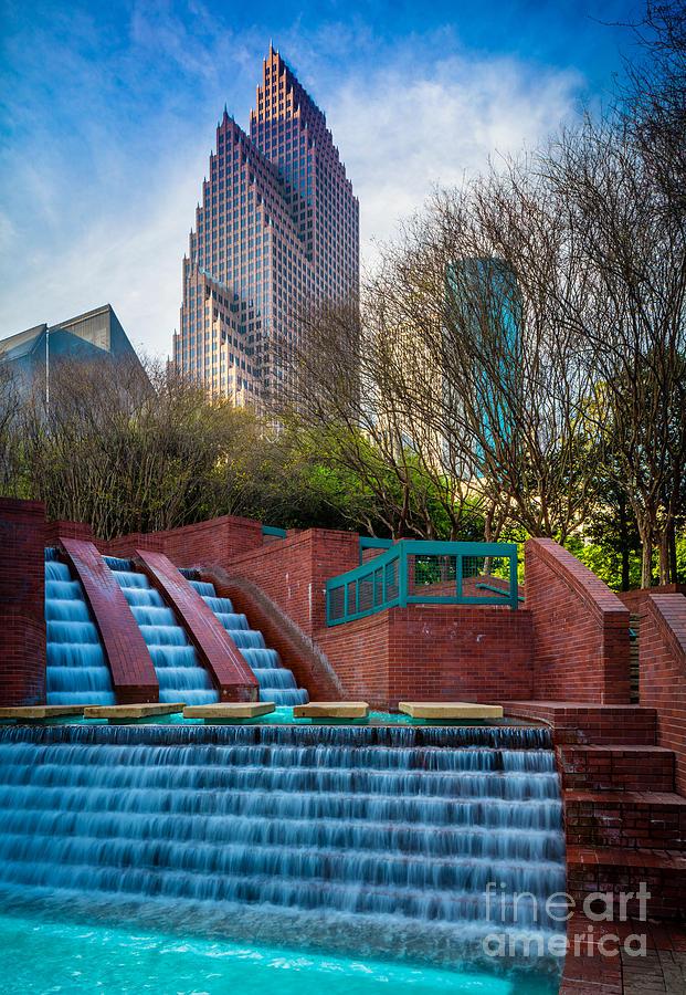 Houston Fountain Photograph