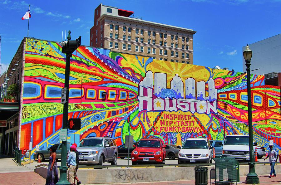 Houston Photograph - Houston, Inspired, Hip, Tasty, Funky, Savvy by David Thompson