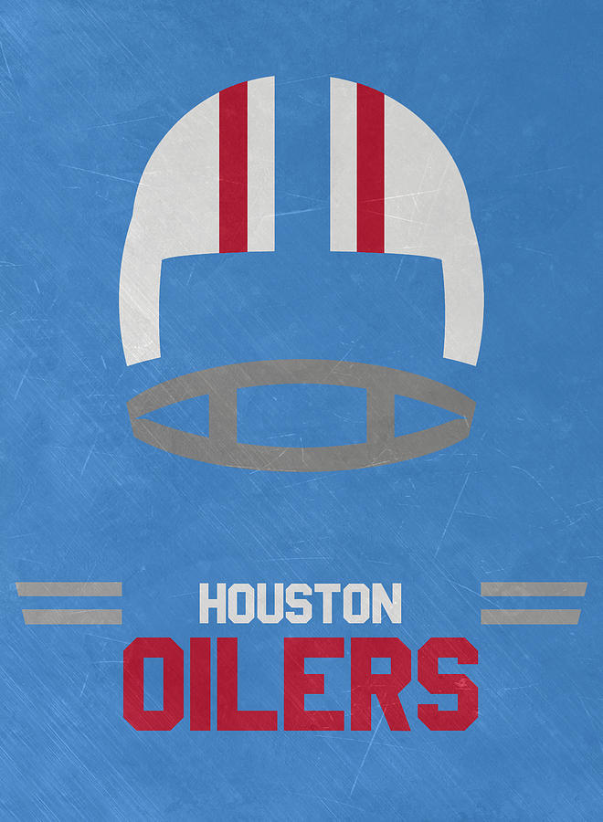 b49045b2c Houston Oilers Vintage Art Mixed Media by Joe Hamilton