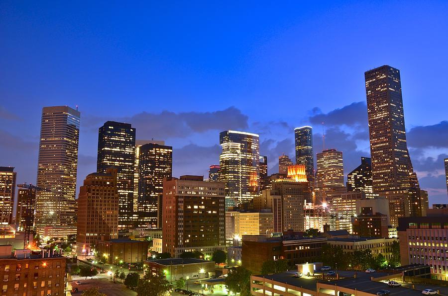 Houston Photograph - Houston Skyline At Dusk by Casey Weinstein