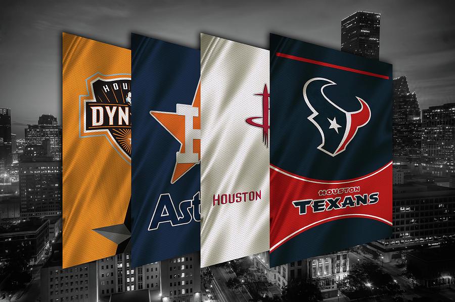 Houston Painting - Houston Sports Teams 2 by Joe Hamilton