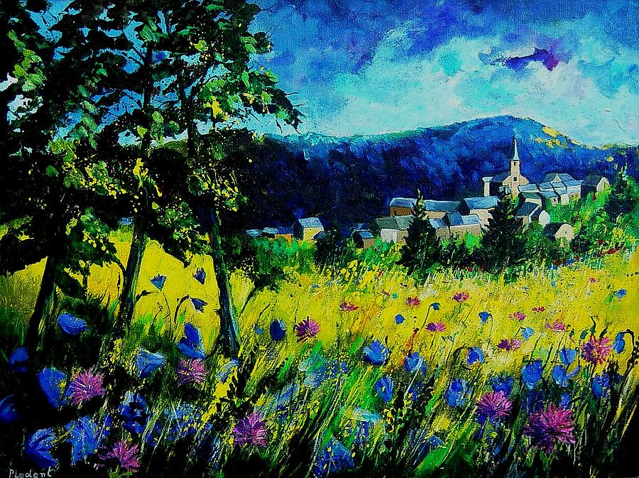 Flowers Painting - Houyet 68 by Pol Ledent