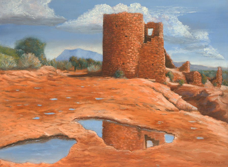 Anasazi Painting - Hovenweep Reflection by Jerry McElroy