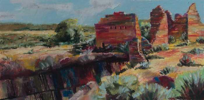 Hovenweep Ruins Painting by David Knox