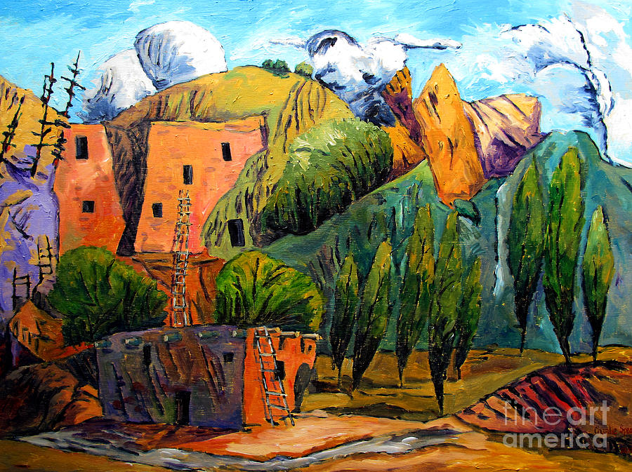 Hovenweep National Monument Painting - Hovenweep The Penthouse  by Charlie Spear