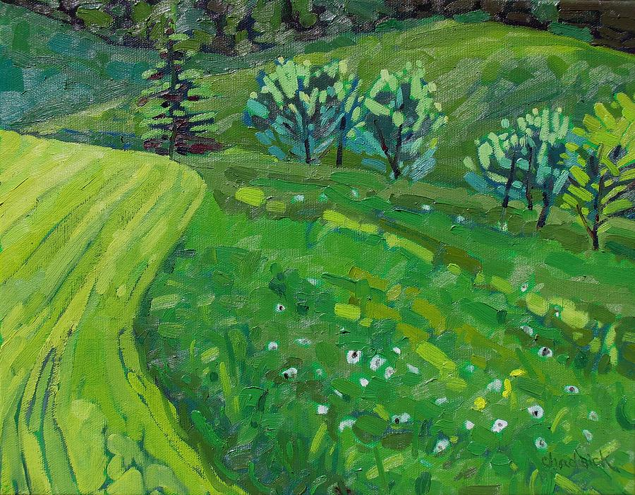 Spring Painting - How Green Is My Valley by Phil Chadwick